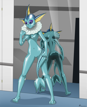 commission - Vaporeon suit 02 by Rosvo