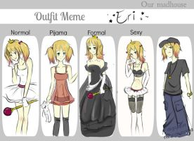 Outfit meme: Eri by fanybunny