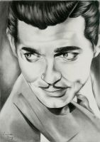Clark Gable Portrait by LucindaGuy