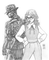 Count Chromium and Barbara Gordon by Everwho