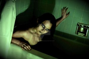 Monster in the Bath Tub by AClockworkBlue