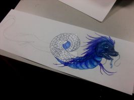 Blue Chinese Dragon: WIP by ScottishRedWolf