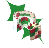 Checkered Christmas Mistletoe Cake (FOR SALE) by octapuu