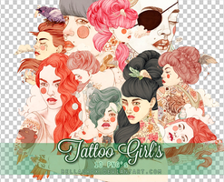 Tattoo Girls PNGs by Bellacrix