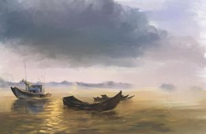 Evening Boats by Loo1Cool
