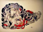 Tattoo design - Horse and crab (commission) by Xenija88