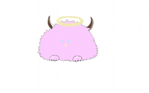 Pink Fuzzball by PipDesign