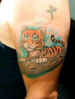 James's Baby Tiger by Sirius-Tattoo
