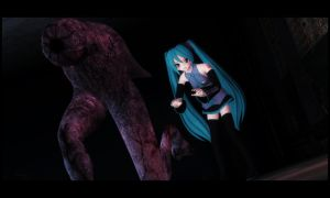 Hatsune Miku and ... friend? by MrWhitefolks