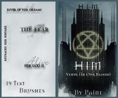HIM - Venus  - Text Brushes by NemesisDivina666