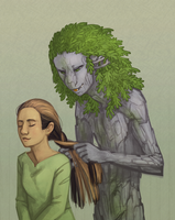 Abbey Braiding Eleanor's Hair by DimeSpin