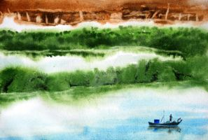Watercolor Landscape by swaroopbiswas