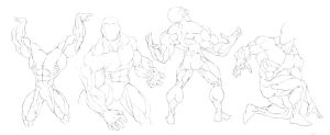 Anatomy Study: Big Swole by GavinMichelli