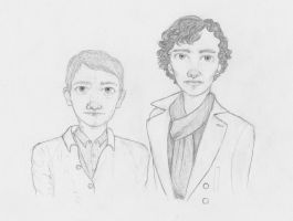 Sherlock and Watson by Candy-Stripes