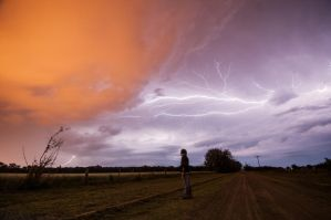 Self portrait and storm by root147