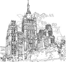 Moscow scetch by e-designer