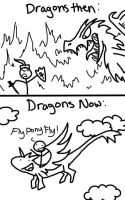Dragons: Then and Now by DragonarySilver