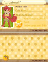 PKMN Crossing: Cole Kirsch by FieldCommanderPrinny