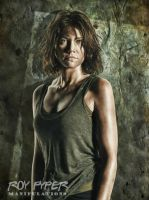 TWD: Maggie Greene: Oil Paint Edit by nerdboy69