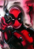 Deadpool Sketch Card by BiancaThompson