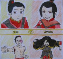 Sibling Rivalry: Fire Nation by sleepyzebra