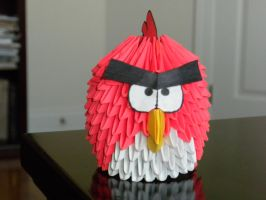 Angry Bird by paporigami