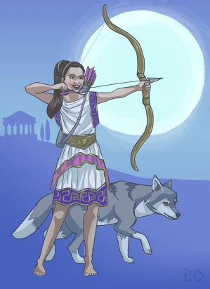 Sarah as Artemis