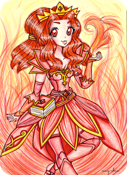 Lina, The Scorching Princess by sekaiichihappy