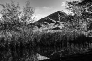Black and White Mountain by EterNight