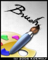 Paint Brush and Palette Icon by KDEWolf