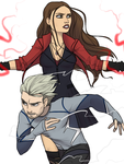 The Maximoff Twins by thelivingmachine02
