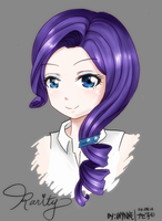 :Rarity: Ponytails Portrait by Nazeko