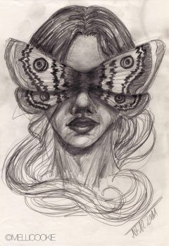 Moth woman by Mellicookie