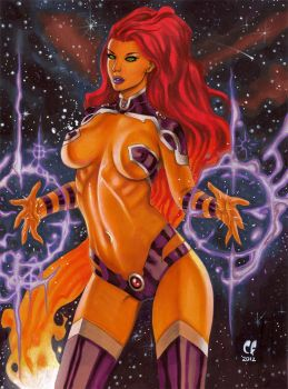 Starfire New 52 by daikkenaurora