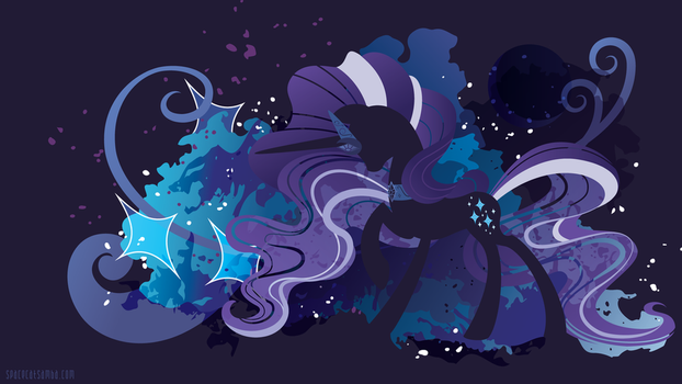 Nightmare Rarity Silhouette Wall by SambaNeko