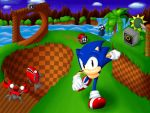 Sonic Green Hill Zone by SpadeRunner