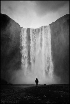 me infront of the Skogafoss waterfall in iceland by Relderson