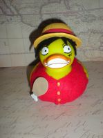 Luffy Rubber Duck by Oriana-X-Myst