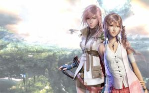 Lightning and Serah wallpaper. by Manderson169