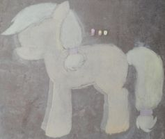Chalk AppleJack Drawing by baddog432