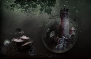FANTASY FOREST PREMADE BACKGROUND by VaLeNtInE-DeViAnT