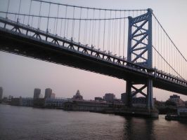 Ben Franklin Bridge by xJRosex