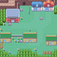 Verdanturf Town, Ruby Game image and depicted by PokemonOnlineGames
