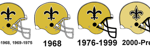 Saints Helmet History by Chenglor55