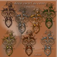 deco swirls accents by libidules