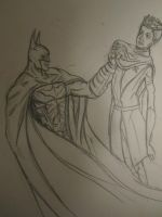 Joffery and Batman sketch by MisterMikeA