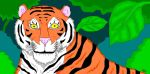 tigre en paint by paintsniper