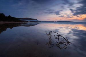 Dusk at Harmony Beach by tfavretto