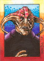Dr Who: The Graske Sketchcard by ElfSong-Mat