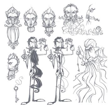 Bluebeard sketches by ZestyDoesThings